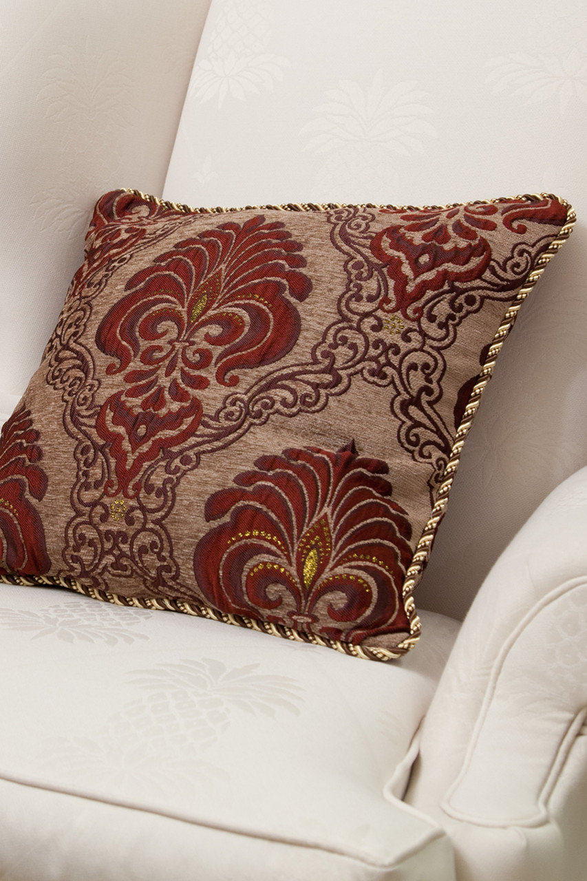 Picture Of Rouge Fleur De Lis Pillow Case