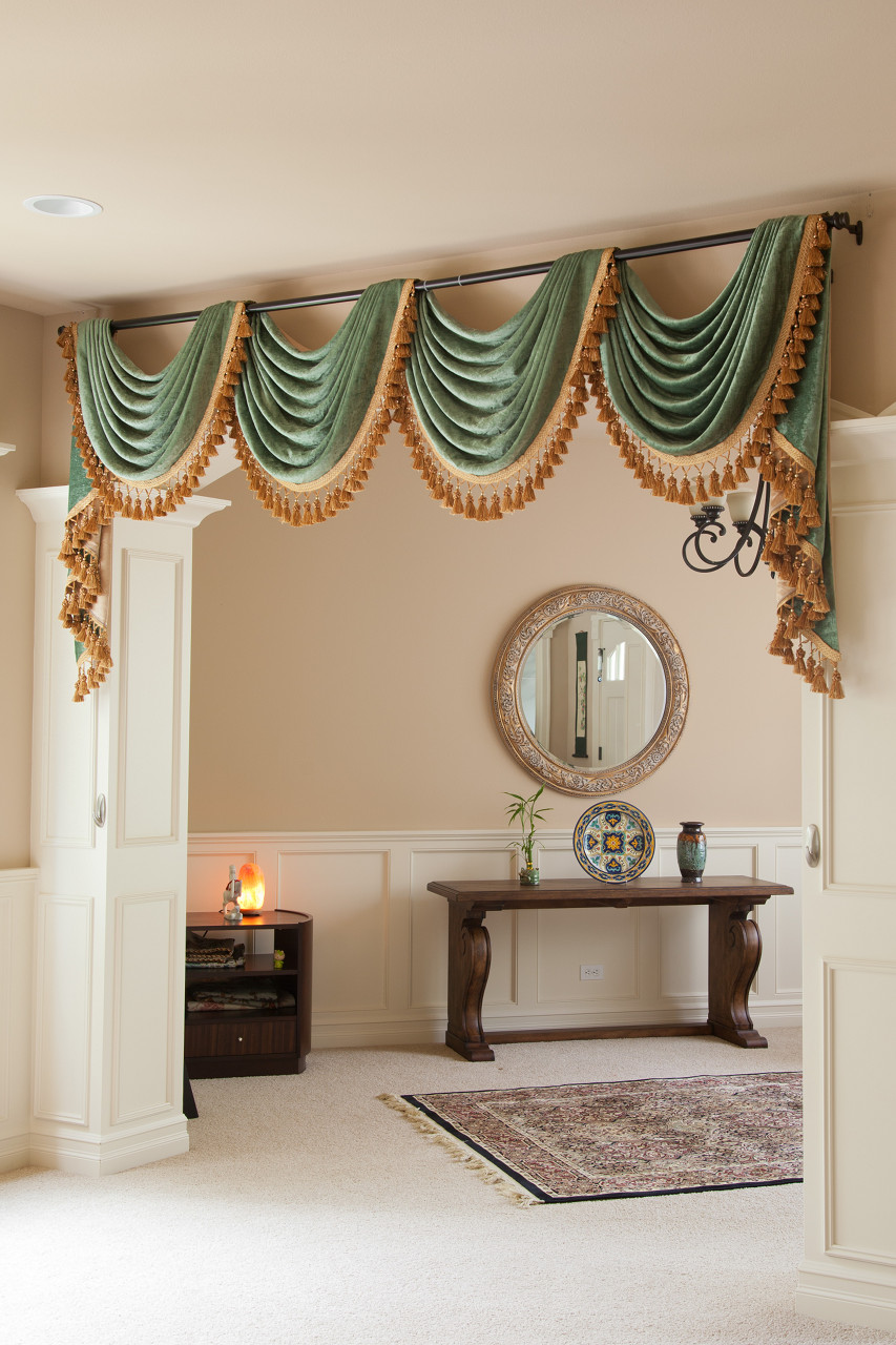 Bon Green Chenille Swag Valance Curtain Set Picture 4