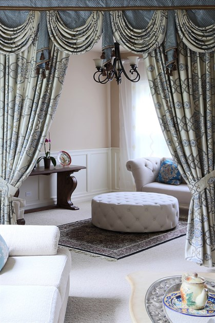 Picture of Persian Dance - Mix & Match Fabrics with Spiral jabots 100''