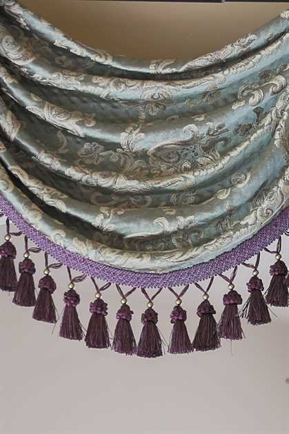 """Picture of Egyptian Blue Valance 100""""W"""