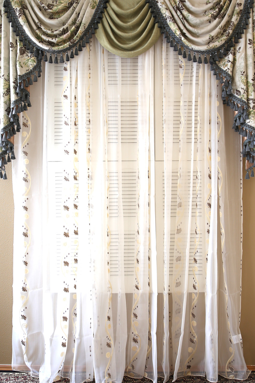 Picture Of Custom Order Alachian Spring Clic Overling Swag Valance Curtains