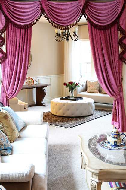 Picture of Pink Chenille Valance Only 100''W