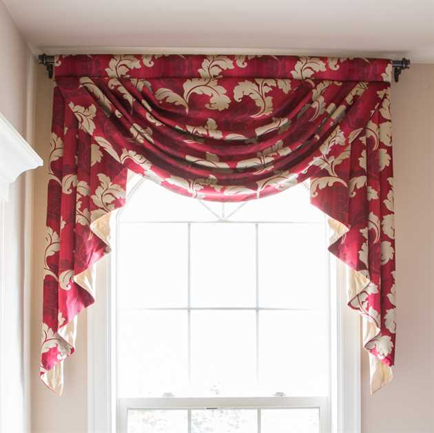Picture of Red & Gold Leaf Valance Only