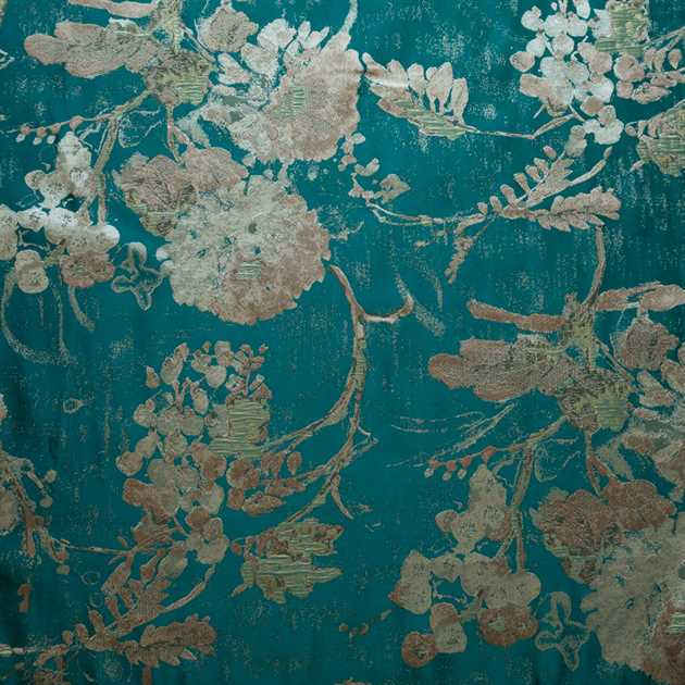 Picture of Teal Kimono Flowers