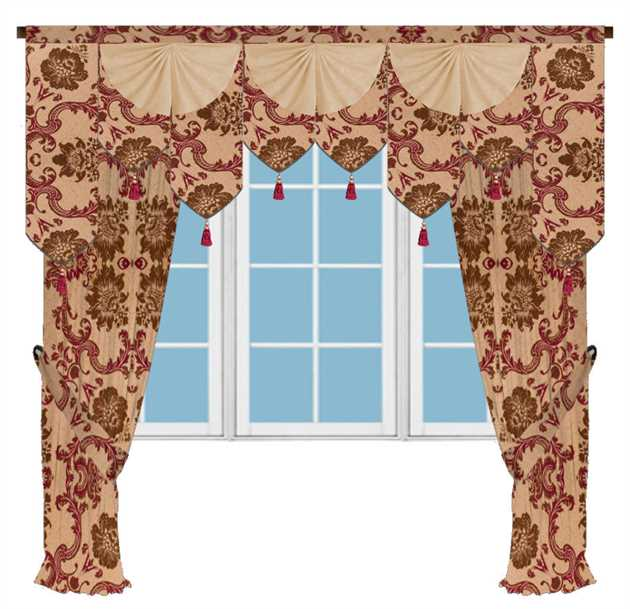 Picture of {fabric name} Palace Pelmet Salon Style