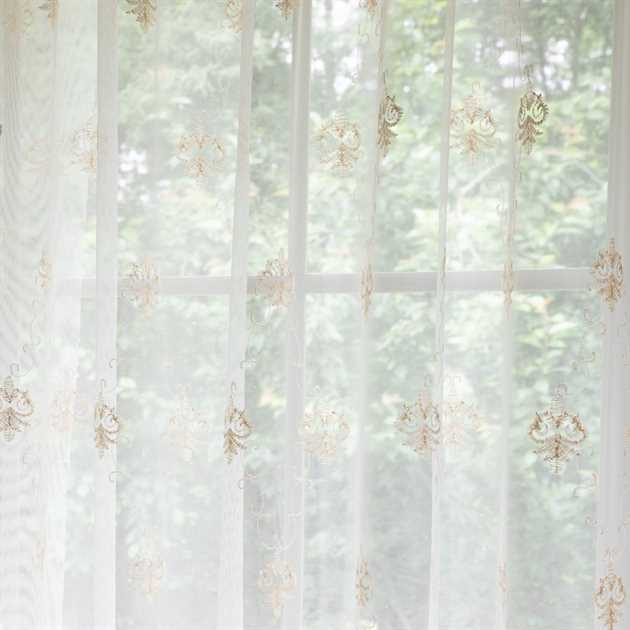 Picture of Classic Motif Sheer Curtains