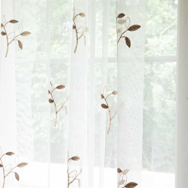 Picture of Leaf Branch Sheer Curtains