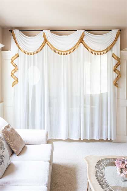 Picture of White Sheer Swag valance curtains